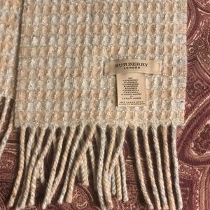 BURBERRY SCARF WITH LUREX AND FRINGE -AUTHENTIC